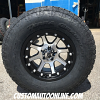 17x9 XD Addict 798 black and machined wheel - 285/70r17 Nitto Terra Grappler G2