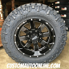 18x10 Moto Metal 962 Black wheel - LT285/65r18 Nitto Trail Grappler MT tire