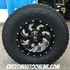 18x9 Fuel Cleaver D574 Gloss black and milled wheel - 35x12.50r18 Toyo Open Country AT2 Extreme
