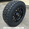 18x9 Moto Metal 962 Black and Milled wheel - LT285/65r18 Toyo Open Country AT2 tire