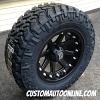 18x9 XD Addict 798 Black wheel - LT285/65r18 Nitto Trail Grappler MT