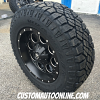 18x9 Fuel Revolver D525 Black and Milled wheel - 275/65r18 Goodyear Wrangler Duratrac