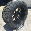 20x10 Moto Metal 970 black and milled wheel - LT295/55r20 Toyo Open Country AT2