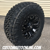 18x9 Fuel Assault D546 black and milled wheel - 35x12.50r17 Nitto Trail Grappler