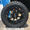 22x11 Fuel Krank D517 black and milled wheel - 37x13.50r22 Nitto Trail Grappler MT