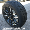 20x8.5 Platinum Allure 252 black and milled wheel - 235/55r20 Nitto NT421Q