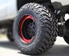 XD Rockstar III XD827 matte black wheel with red bead lock ring - Rockstar 3