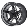 XD Rockstar III black and machined wheel - Rockstar 3 XD 827