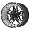 XD Rockstar III black and machined wheel with inserts removed - Rockstar 3 XD827