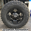 17x9 XD Rockstar 775 black wheel with 285/70r17 Federal Couragia MT tires