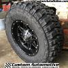 17x9 Fuel Hostage D531 matte black wheel - LT285/70r17 Federal Couragia MT