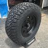 17x8 American Racing AR172 matte black wheel with LT285/70r17 BFGoodrich All Terrain KO2 tires