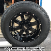 18x10 Moto Metal MO962 Black and Milled wheel with 285/60r18 Nitto Terra Grappler G2 tires