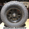 18x9 XD Enduro 122 matte black wheel with LT325/60r18 Toyo Open Country AT2 tire