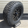 17x9 Helo HE879 Black and Milled wheel with LT285/70r17 Toyo Open Country AT2
