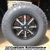 17x9 Mayhem Beast 8102 black and milled wheel with 285/70r17 Nitto Terra Grappler G2