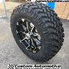 18x9 XD Badlands 779 black and machined wheel - LT275/70r18 Nitto Trail Grappler MT