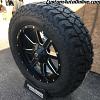 20x9 Fuel Maverick D538 black and milled wheel - LT275/65r20 Mickey Thompson ATZ P3 tires