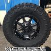 17x8 Moto Metal MO970 Black and Milled wheel - 35x12.50r17 Nitto Trail Grappler MT