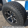 17x9 Helo HE791 Maxx Black and Milled wheel - 285/70r17 Toyo Open Country AT2