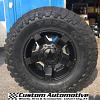 17x9 XD Rockstar II RS2 XD811 black wheel - LT295/70r17 Toyo Open Country MT