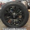 20x9 Fuel Vapor D569 Black and Dark Tint Machined wheel - 275/55r20 Nitto Terra Grappler G2 tire