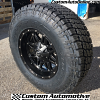 17x9 Fuel Hostage D531 Black wheel - LT295/70r17 Nitto Terra Grappler G2