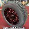 17x9 XD Grenade 820 black wheel with red milling - 255/60r17 Kumho KH16 tires