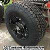 17x9 KMC XD Rockstar XD775 matte black wheel - LT285/70r17 Nitto Terra Grappler G2