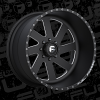 Fuel Forged FF02 Black and Milled wheel