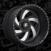 Fuel Forged FF10 black and milled wheel