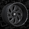 Fuel Forged FF11 Black and Milled wheel