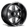 Fuel Forged FF15 Black and Milled wheel