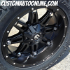 20x10 Fuel Hostage D531 Black - 295/55r20 Nitto Trail Grappler