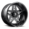 Fuel Forged FF21 Black and Milled wheel
