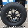 17x9 Helo HE879 Black and milled wheel - 285/70r17 Toyo Open Country AT2 Tire