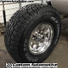 16x8 Ultra 164 polished wheel - LT285/75r16 Wild Country XTX Sport tires
