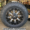 18x9 Fuel Nutz D541 black and machined wheel - LT285/65r18 Nitto Ridge Grappler