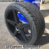 20x8.5 KM685 KMC District black wheel - 255/35r20 Nitto NT555 G2