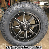 20x9 Fuel Maverick D538 Black and Milled wheel - LT295/60r20 Nitto Ridge Grappler tire