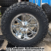 20x10 Fuel Hostage D530 Chrome wheel - 37x13.50r20 Nitto Trail Grappler MT tire