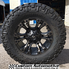 20x9 Fuel Vapor D569 Black with Dark Tint Machined wheel - 37x12.50r20 Nitto Trail Grappler MT