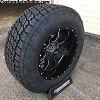 18x10 Moto Metal MO970 Black and Milled wheel - LT275/65r18 Nitto Terra Grappler G2 tire