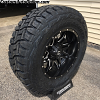 20x10 Fuel Lethal D567 black and milled wheel - 37x12.50r20 Toyo Open Country R/T tire