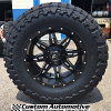 20x10 Fuel Lethal D567 Black and Milled wheel - 37x12.50r20 Toyo Open Country M/T tires