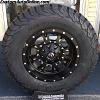17x9 Fuel Krank D517 black and milled wheel - LT285/70r17 BFGoodrich KO2 All Terrain tires