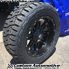 20x10 Fuel Hostage D531 Black wheel - 33x12.50r20 Toyo Open Country R/T