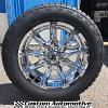 20x9 XD Badlands 779 chrome wheel - 275/55r20 Nitto Terra Grappler G2