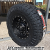 17x9 Fuel Krank D517 Black and Milled wheel - 35x12.50r17 Nitto Ridge Grappler