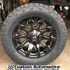 20x9 Fuel Battle Axe D578 gloss black and milled - LT305/55r20 Toyo Open Country AT2 Extreme